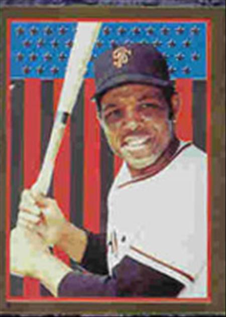 1983 Topps Baseball Stickers     003      Willie Mays FOIL