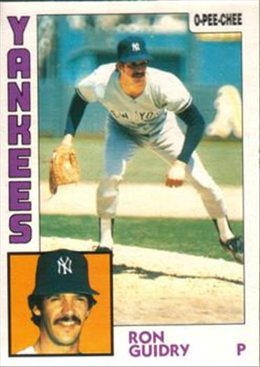 1984 O-Pee-Chee Baseball Cards 110     Ron Guidry
