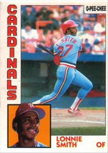 1984 O-Pee-Chee Baseball Cards 113     Lonnie Smith