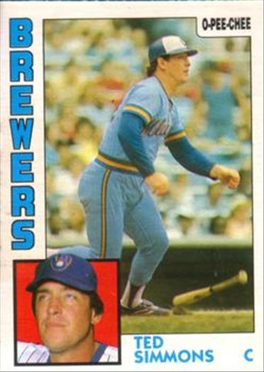 1984 O-Pee-Chee Baseball Cards 122     Ted Simmons