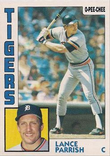 1984 O-Pee-Chee Baseball Cards 158     Lance Parrish