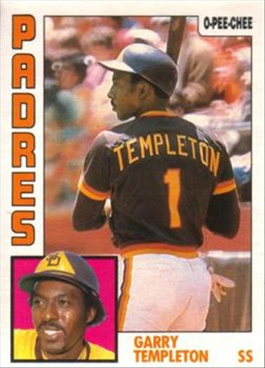 1984 O-Pee-Chee Baseball Cards 173     Garry Templeton