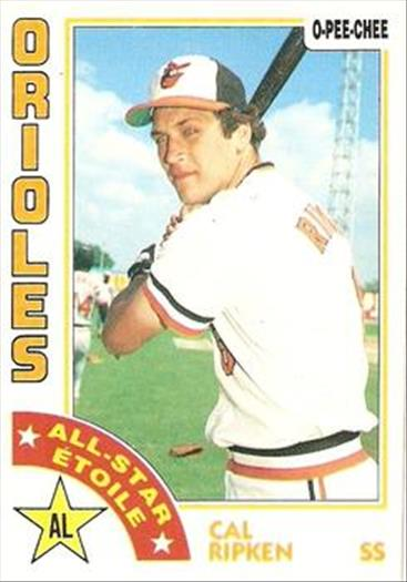 1984 O-Pee-Chee Baseball Cards 002      Cal Ripken AS