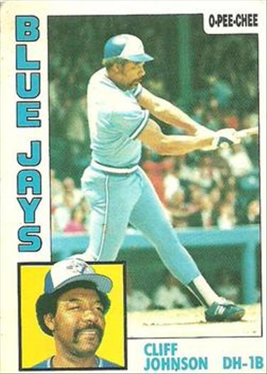 1984 O-Pee-Chee Baseball Cards 221     Cliff Johnson