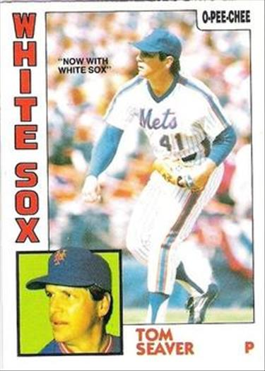 1984 O-Pee-Chee Baseball Cards 261     Tom Seaver#{Now with White Sox