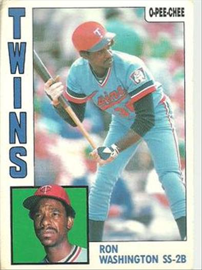 1984 O-Pee-Chee Baseball Cards 268     Ron Washington