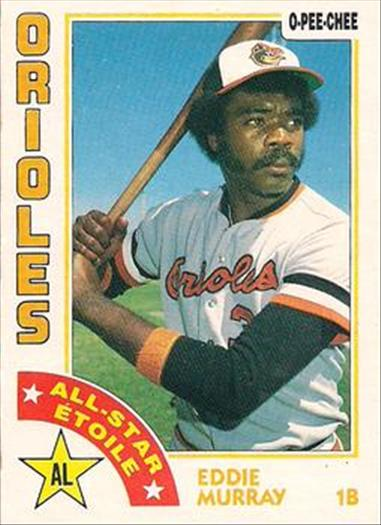 1984 O-Pee-Chee Baseball Cards 291     Eddie Murray AS