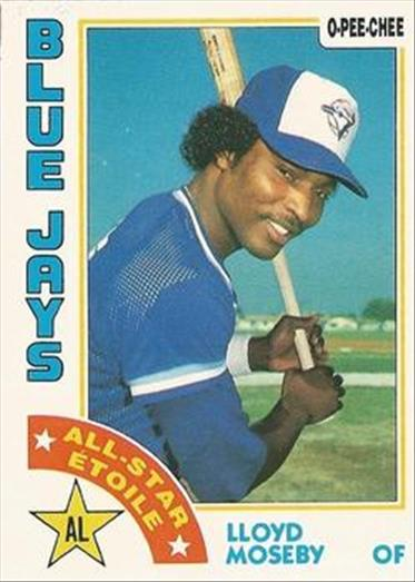 1984 O-Pee-Chee Baseball Cards 003      Lloyd Moseby AS