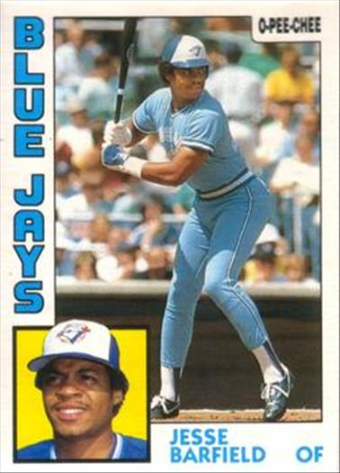 1984 O-Pee-Chee Baseball Cards 316     Jesse Barfield