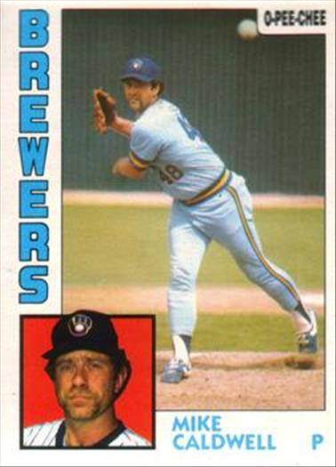 1984 O-Pee-Chee Baseball Cards 326     Mike Caldwell