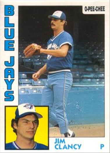 1984 O-Pee-Chee Baseball Cards 337     Jim Clancy