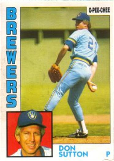 1984 O-Pee-Chee Baseball Cards 035      Don Sutton