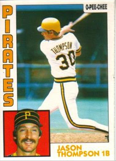 1984 O-Pee-Chee Baseball Cards 355     Jason Thompson