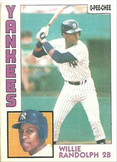 1984 O-Pee-Chee Baseball Cards 360     Willie Randolph