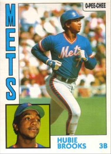 1984 O-Pee-Chee Baseball Cards 368     Hubie Brooks