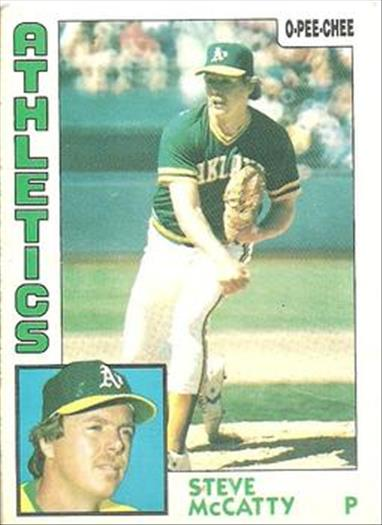 1984 O-Pee-Chee Baseball Cards 369     Steve McCatty