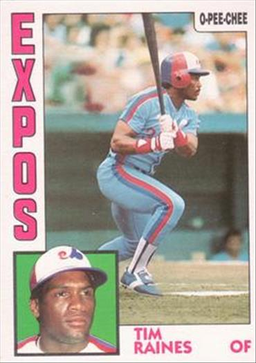 1984 O-Pee-Chee Baseball Cards 370     Tim Raines