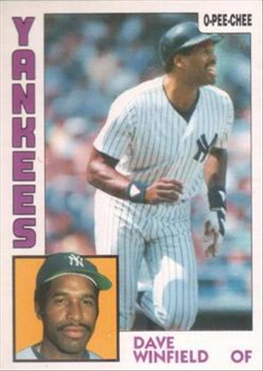 1984 O-Pee-Chee Baseball Cards 378     Dave Winfield