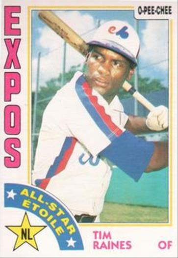 1984 O-Pee-Chee Baseball Cards 390     Tim Raines AS
