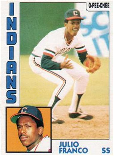 1984 O-Pee-Chee Baseball Cards 048      Julio Franco RC