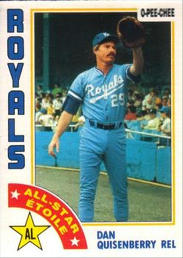1984 O-Pee-Chee Baseball Cards 069      Dan Quisenberry AS