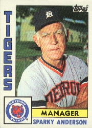 1984 Topps      259     Sparky Anderson MG