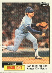 1984 Topps      003      Dan Quisenberry HL#{Sets save record
