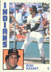 1984 Topps      308     Ron Hassey