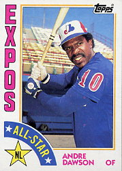 1984 Topps      392     Andre Dawson AS