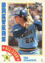 1984 Topps      404     Ted Simmons AS