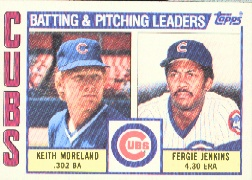 1984 Topps      456     Cubs TL/Fergie.Jenkins/Keith Moreland