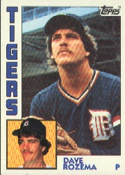 1984 Topps      457     Dave Rozema