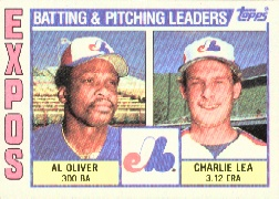 1984 Topps      516     Montreal Expos TL#{Al Oliver#{Charlie Lea#{(Checkl