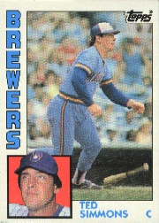 1984 Topps      630     Ted Simmons