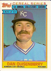 1984 Topps Cereal       025      Dan Quisenberry