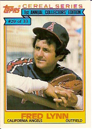 1984 Topps Cereal       029      Fred Lynn