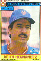 1984 Topps Cereal       032      Keith Hernandez