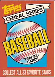 1984 Topps Cereal       NNO     Checklist Card