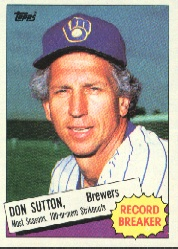 1985 Topps Baseball Cards      010      Don Sutton RB