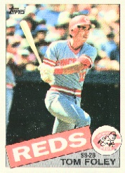 1985 Topps Baseball Cards      107     Tom Foley