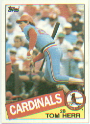 1985 Topps Baseball Cards      113     Tom Herr