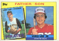 1985 Topps Baseball Cards      137     Vance/Vern Law FS