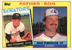 1985 Topps Baseball Cards      141     Mike/Dave Stenhouse FS