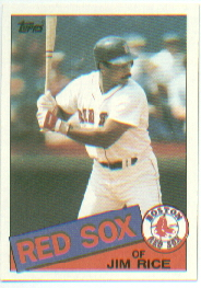 1985 Topps Baseball Cards      150     Jim Rice