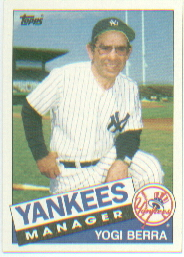 1985 Topps Baseball Cards      155     Yogi Berra MG/TC