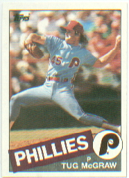 1985 Topps Baseball Cards      157     Tug McGraw
