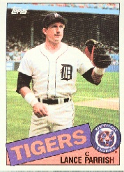 1985 Topps Baseball Cards      160     Lance Parrish