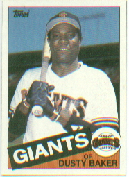 1985 Topps Baseball Cards      165     Dusty Baker
