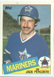 1985 Topps Baseball Cards      172     Jack Perconte