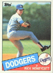 1985 Topps Baseball Cards      174     Rick Honeycutt